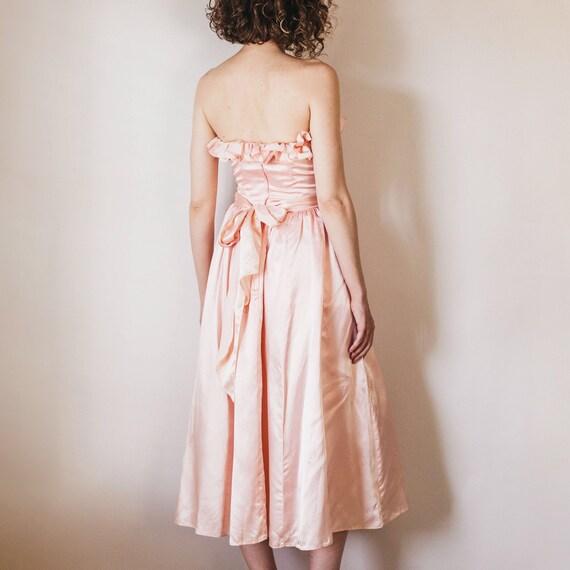Vintage Romantic Light Pink 70s/80s Gunne Sax For… - image 4