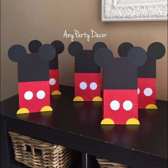Mickey Favor bags,Mickey Minnie Party favor. Mickey Mouse Birthday bags Minnie Party bags Mickey Minnie Birthday Mickey Mouse Bags