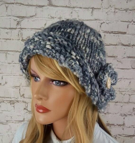c9fa99c2cc3 Bonnet tricoté pour chapeau de laine dhiver pour femmes