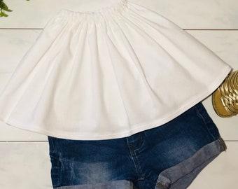 5f3736a6081 Handmade white toddler tube top