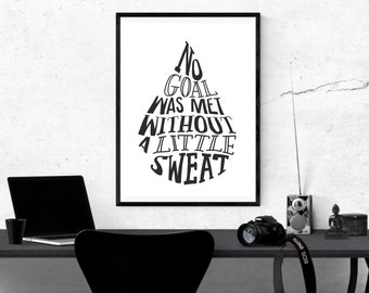 PRINTABLE WALL ART, motivation print, motivation art, fitness, downloadable, wall art, quote, brush lettering, card, inspirational