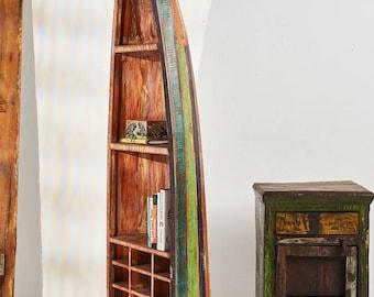 boat bookshelf etsy