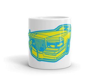 Pimpin'  Antique Car Coffee Mug unique art car muscle illustration car lowrider car lover V8 slow ride horsepower mechanic