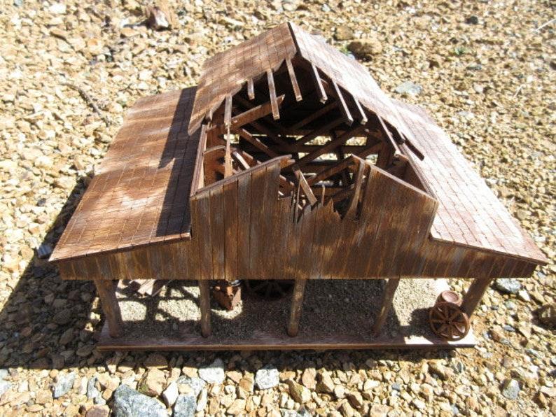 O Scale Miniature Lonesome Dove Barn Captain Call Gus