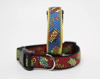 Super Hero Dog Collar 1 inch