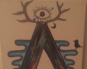 Trippy Third Eye Painting