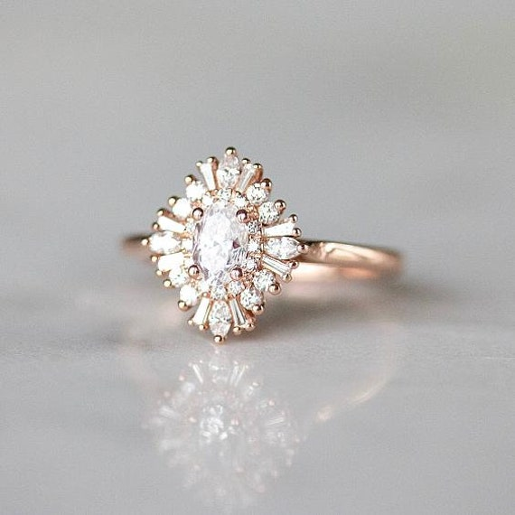 Gatsby Style Engagement Ring