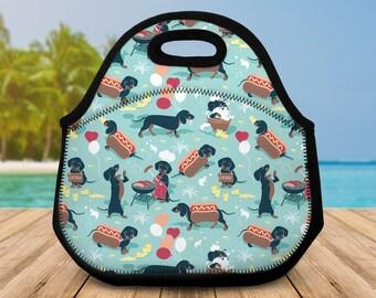 New Childrens Designer Style Dachshund Sausage Dog Print Rucksack Back Pack Bag