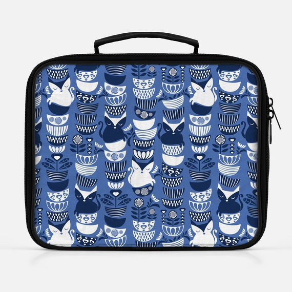 Cat Lunch Box from Selma Cardoso Designs on Etsy