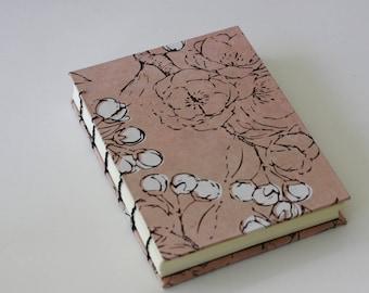 Washington DC Book - Pink Japanese Blossom Handbound Coptic Stitch Notebook