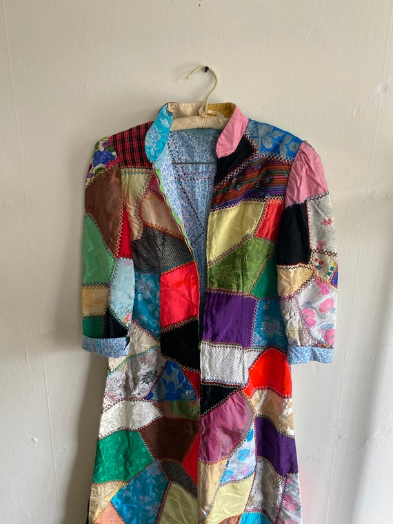 1960s Psychedelic Crazy Quilt Patchwork Dress - image 5