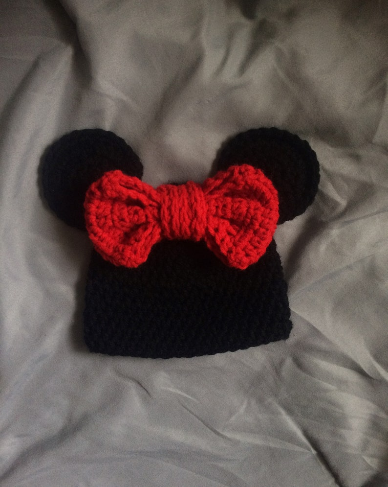Minnie Mouse Inspired Baby Crochet Outfit Photo Prop