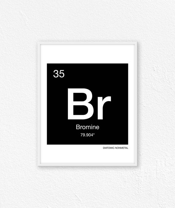 35 Bromine Periodic Table Element Periodic Table Of Etsy