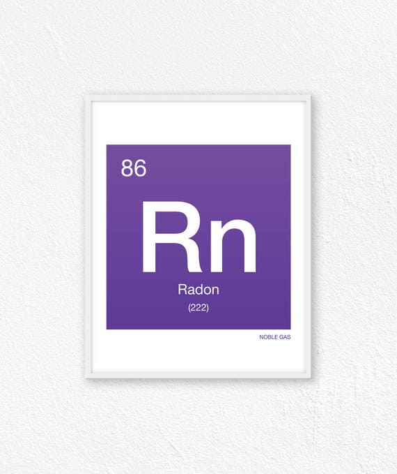 86 Radon Periodic Table Element Periodic Table Of Elements Etsy