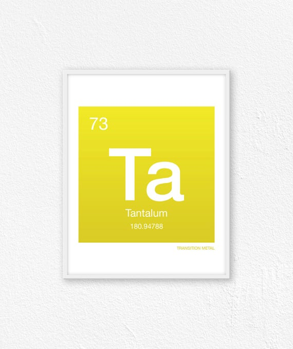 73 Tantalum Periodic Table Element Periodic Table Of Etsy