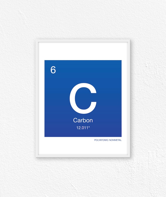 6 Carbon Periodic Table Element Periodic Table Of Elements Etsy