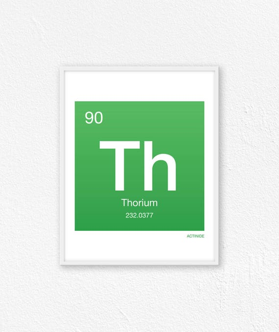 90 Thorium Periodic Table Element Periodic Table Of Etsy
