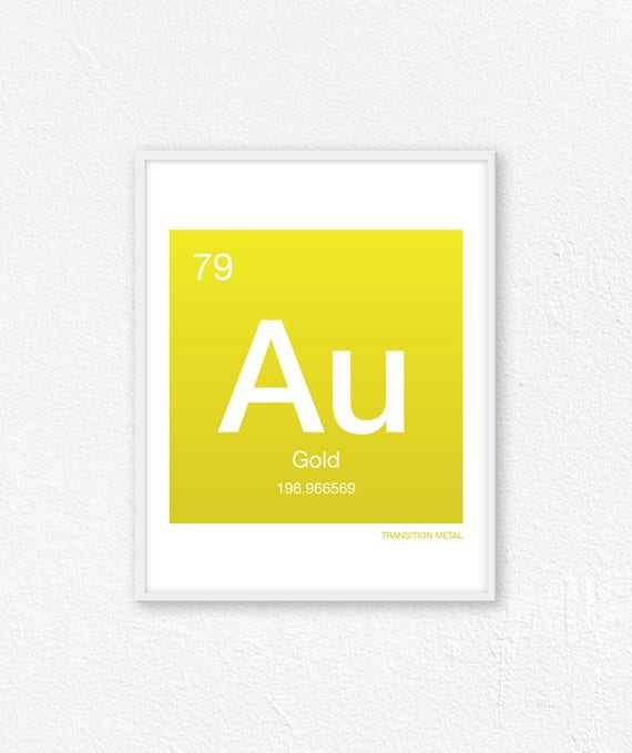 79 gold periodic table element periodic table of elements etsy urtaz Image collections