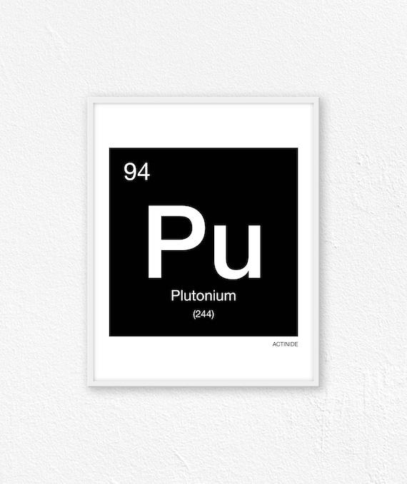 94 Plutonium Periodic Table Element Periodic Table Of Etsy