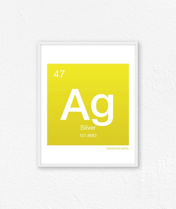 47 Silver Periodic Table Element Periodic Table Of Etsy