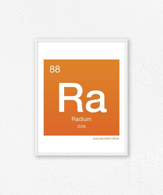 88 Radium Periodic Table Element Periodic Table Of Etsy