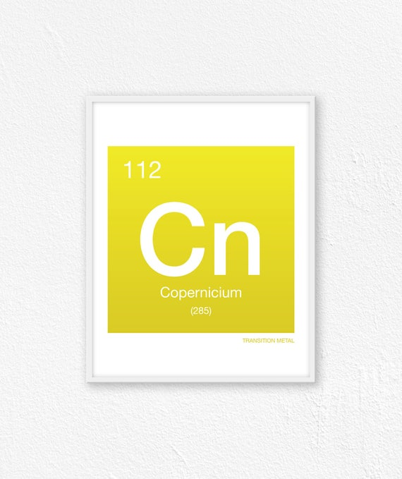 112 Copernicium Periodic Table Element Periodic Table Of Etsy