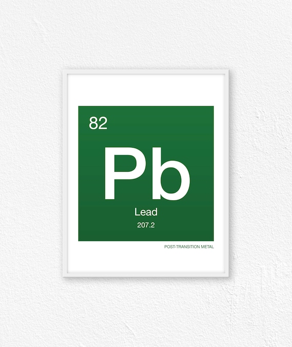 82 Lead Periodic Table Element Periodic Table Of Elements Etsy