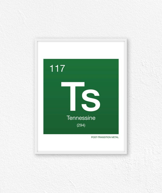 117 Tennessine Periodic Table Element Periodic Table Of Etsy