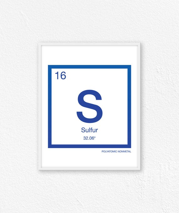 16 Sulfur Periodic Table Element Periodic Table Of Etsy