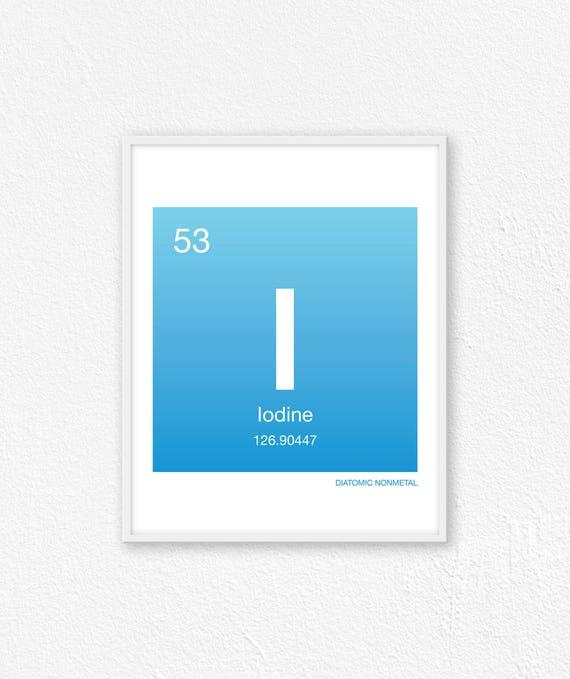 53 Iodine Periodic Table Element Periodic Table Of Etsy