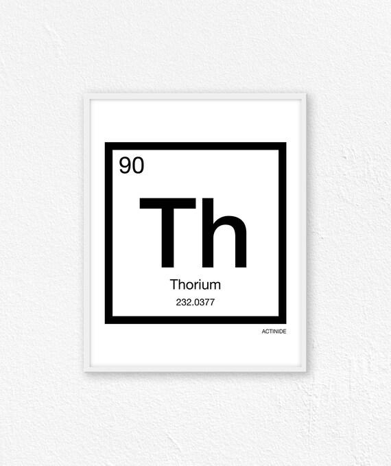 90 Thorium Periodic Table Element Periodic Table Of Etsy