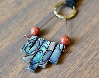 Abalone shell tier necklace