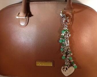 Love And Peace Hand Bag Charm