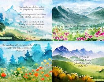 Mountain Proclaimations Printable Card Set