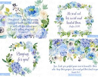 Get Well Flowers Card Set
