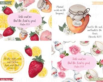 Taste and See Printable Card Set