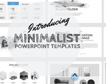 powerpoint templates | etsy, Powerpoint Plastic Bag Presentation Template, Presentation templates