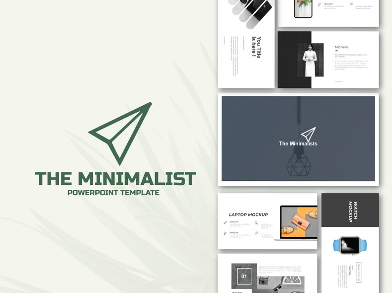 The Minimalist Power Point Template   Unique, Minimal, Clean Powerpoint  Template FOR PC+MAC   1500+ Icons   Hd Quality  