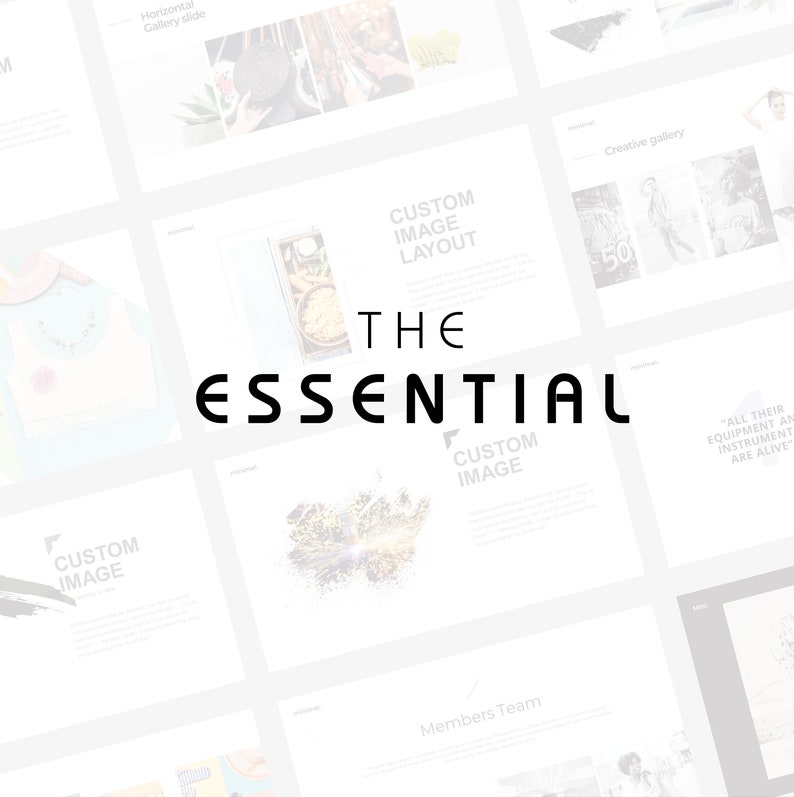 The Essential Powerpoint Template, l Unique, Minimal, Clean, Modern &  Professional Power point Template l PC+MAC