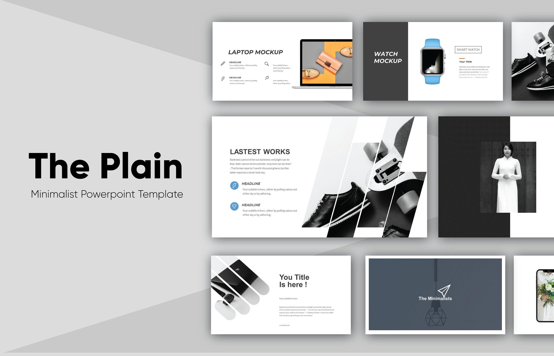 The Plain Minimalist Powerpoint Template| Premium Powerpoint Templates  Design| Professional Presentation Template|Simple, Clean PPT template