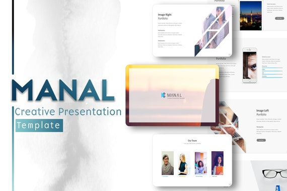 Manal Business Power Point Template Minimalist Powerpoint Etsy