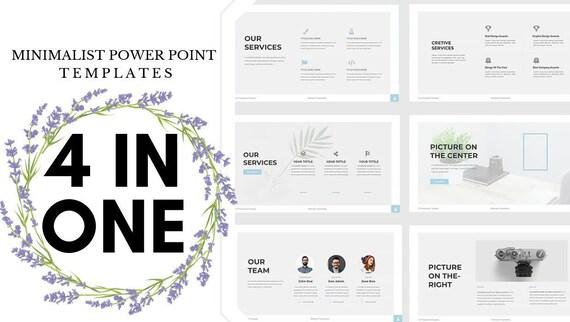 Minimal Power Point Templates Bundle Etsy