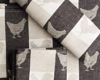 Jacquard Linen towel 2 IN SET Farmhouse hand towel,  kitchen towel, dish towel 27 x 19 inch (70 x 49 cm) ktzay towels with hanging loop