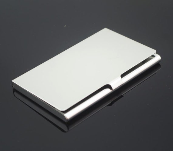 Stainless steel business card holder metal card case business card stainless steel business card holder metal card case business card case blank card holder frame hold a standard sized business card from colourmoves