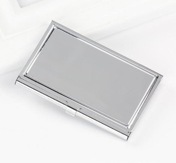 image 0 - Silver Business Card Holder