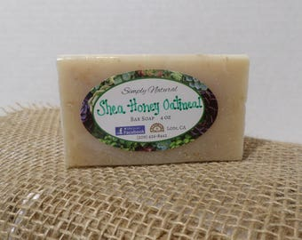 Shea Honey Oatmeal Natural Organic Soap