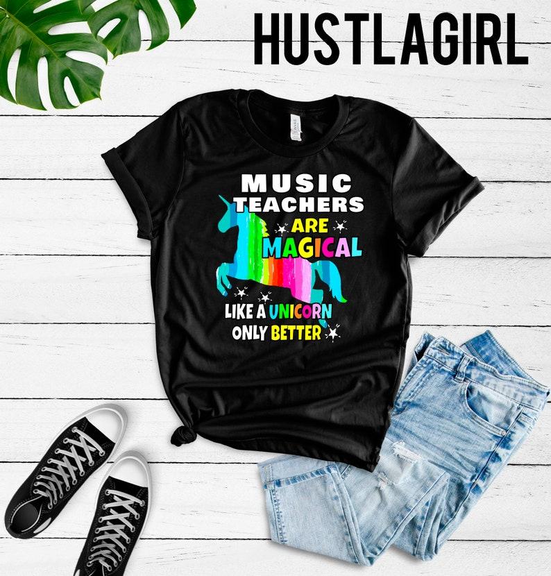 44ca1cfd Music Teachers Shirt Teachers Unicorn T-Shirt Gift For | Etsy