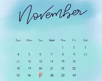 Due date calendar pdf