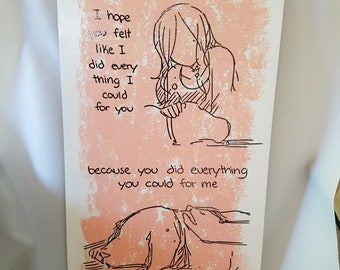 What You Did For Me Wall Hanging