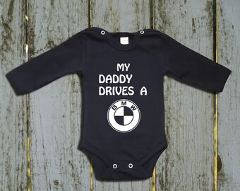 BMW Logo Baby Bodysuit Personalized Gift Newborn M3 One Piece Infant Clothing
